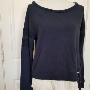 Jolt Hi Low Pullover Shirt Sz Med Navy Blue